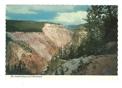 The Grand Canyon Of Yellowstone Park Vintage 4x6 Postcard A117