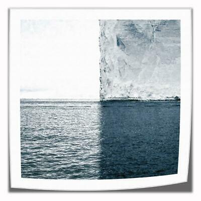 "16""x16""Gray White Ocean Canva prints Painting Home decor Picture Wall art Poster"