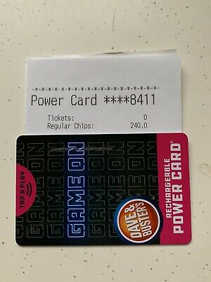 dave and busters 240 chip powercard
