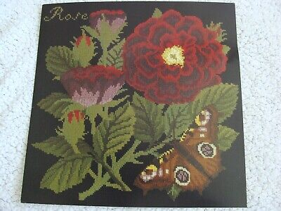 Elizabeth Bradley Needlepoint Kit Rose Chart Yarn and Color Card
