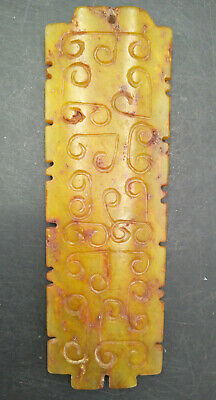 Hongshan culture ,collectibles,Chinese old  jade  carving patter  pendants WM500