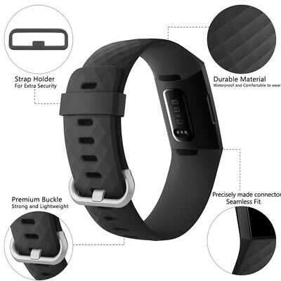 Replace Wristband For Fitbit Charge 3 Watch Band Strap Soft Silicone Bracelet