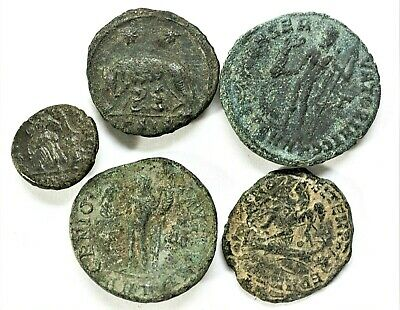 LOT OF FIVE ANCIENT ROMAN COINS Roman: Imperial (27 BC-476 AD)L7