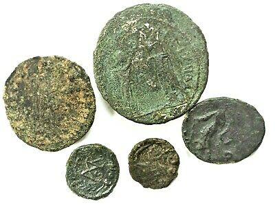 LOT OF FIVE ANCIENT ROMAN COINS Roman: Imperial (27 BC-476 AD)L9