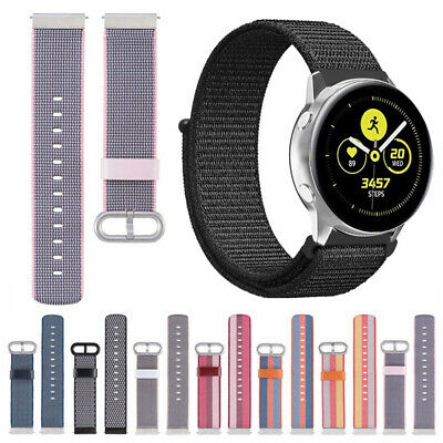 Nylon Woven Sport Loop Band Strap For Samsung Galaxy Watch Active 2 40mm 20mm