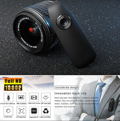 Mini Dash Cam HD 1080P 130° Motion Camera Police Body Motorcycle Bike Camcorder