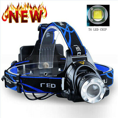 High Power Waterproof Led Head Lamp Work Hunting Torch Light Rechargeable USB