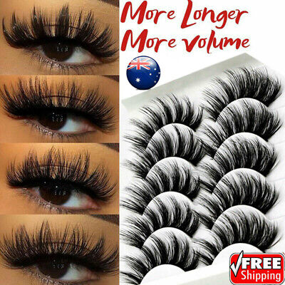 5/10Pairs 3D Multipack Mink False Eyelashes Wispy Fluffy Long Natural Eye Lashes