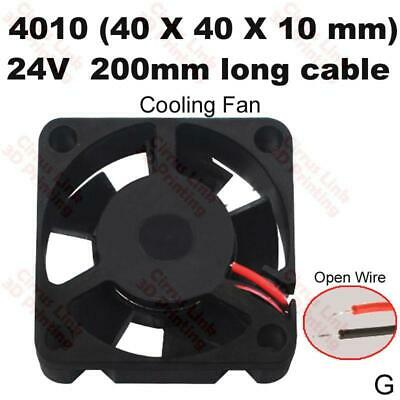 3D printer Part Cooling Fan 4010 40x40x10mm 24V 200mm