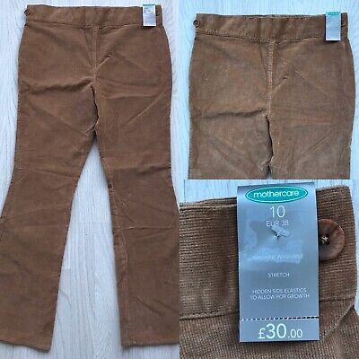 Bnwt Mothercare Maternity Stretch Corduroy Trousers Camel Uk 10