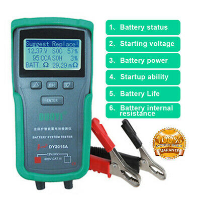 12V 24V Car Truck Battery Tester Analyzer Lead Acid CCA Load Battery Charge Test