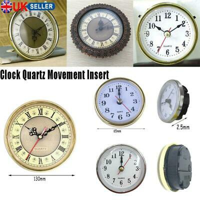 "Shellhard 2-1/2"" (65mm) Clock Quartz Mechanism Movement Insert Roman Numeral New"