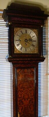 "Antique Walnut Marquetry  "" London "" 8 Bells Grandfather  /  Longcase Clock"