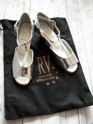 Roch valley Girls silver ballroom shoes size 3 new with bag