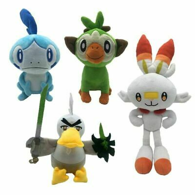 Pokemon Sword & Shield Scorbunny Sobble Grookey Plush Doll Toy Animal Collection