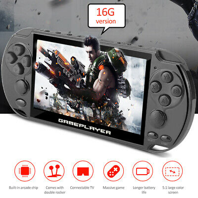 """16GB 5.1""""128 Bit Built-In 10000 Game Portable Handheld Video Game Console Player"""