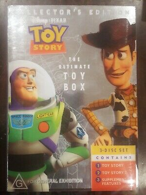 Disney Pixar Toy Story The Ultimate Toy Box Rare Dvd 1 & 2 Collector's Edition