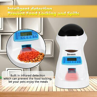 Automatic Pet Feeder Dog Cat Programmable Animal Food Bowl Timed Auto Dispenser~