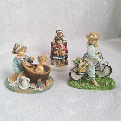 3 x Vintage The Leonardo Collection Christine Haworth Figurine Ornament Bundle