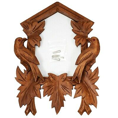 CUCKOO CLOCK  FRAME Cover birds glass eyes black forest With pins