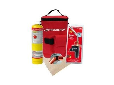 Rothenberger Superfire 2 Torch with Solder Mat & 15mm Pipe Bender/Cutter Map Gas