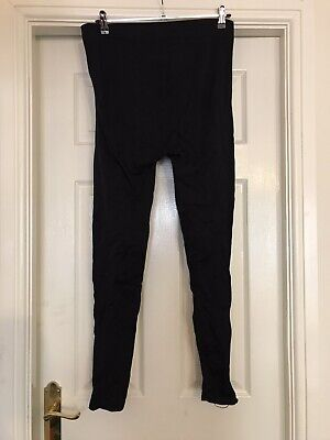 New Look Maternity Black Over Bump Thick Footless Tights Size L 16-18