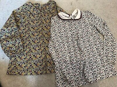 2pc Traditional Country Style Mothercare & Tu Long Sleeve Top 7-8 Yrs Girls NEW