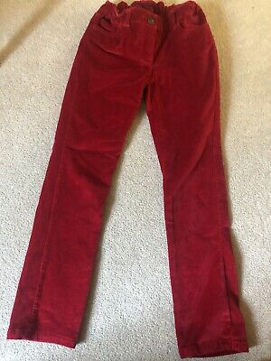 Mini Boden Girls Age 9. VGC Red Velvet Trousers