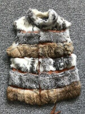 Elegant Girls Sleeveless Fur Gilet Age 14