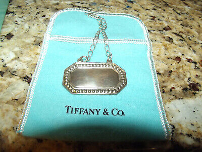 Tiffany & Co. Sterling Silver Decanter and Bottle Tags