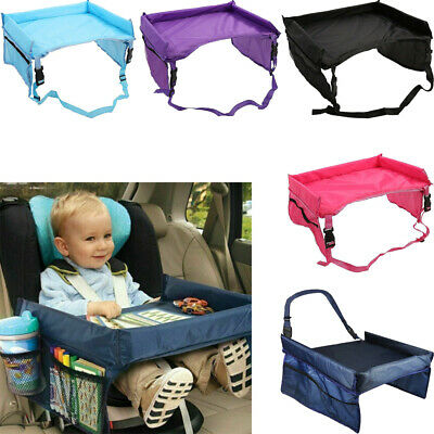 Kids Travel Tray Car Seat Play Table Board for Snack Waterproof Safety Toy Eat