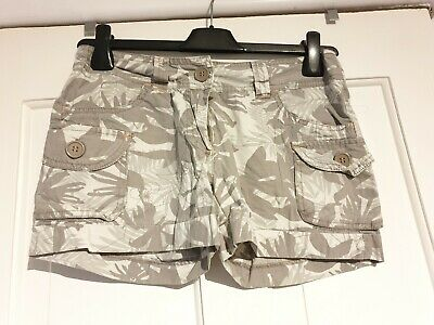 Excellent Condition New Look Generation Khaki Print Shorts Age 12