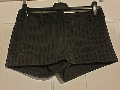Excellent Condition New Look Generation Girls Grey Stripe Shorts Age 12