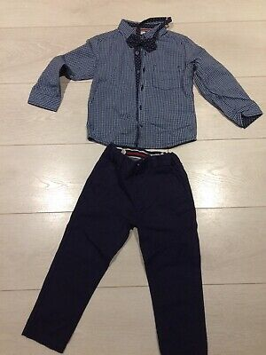 Boys Outfit Drresed Up Xmas Party Wedding 2-3 Yrs Bow Tie From Boots Miniclub