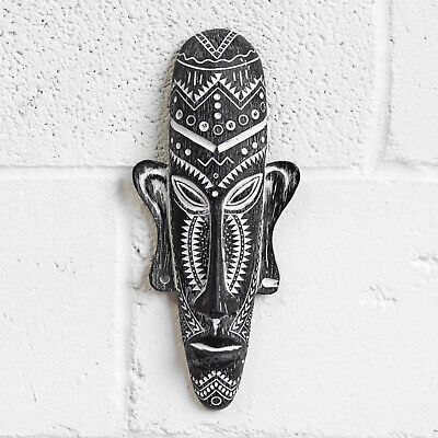 Tribal Aztec Face Mask Wall Mounted Home Decoration African Tiki Plaque Ornament