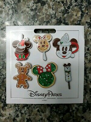 New Disney Parks (2019 Christmas - Holiday Treats Booster Pack) 6 Pin Set