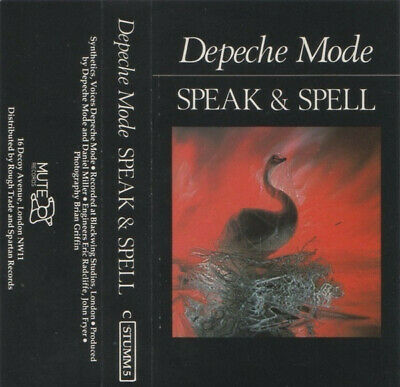 Depeche Mode - Speak And Spell Cassette Tape CSTUMM5 Mute
