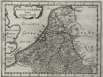 Low Countries Holland Flanders Netherlands 1661 Jansson Ortelius miniature map