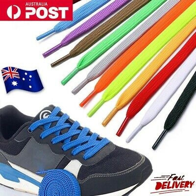 Shoelaces Colourful Coloured Flat Bootlace Sneaker Boot shoe laces Unisex NEW