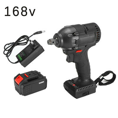 Brushless Cordless Electric Wrench Impact Torque Drill Tool 520nm Rechargeable