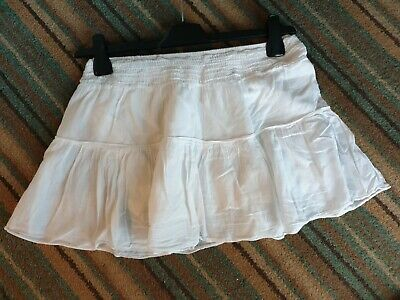 Excellent Condition New Look Generation White Cotton Mini Skirt Age 11-12 Years