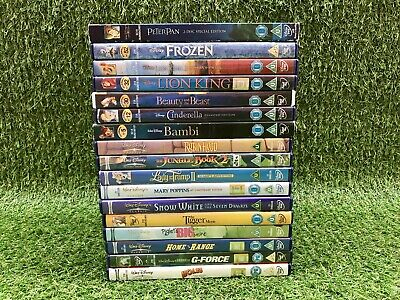 Disney DVD Bundle (17 DVD's) ~ The Lion King 1&2 / Snow White / Bambi (PAL) VGC