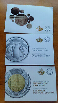 2016 Women's Right to Vote,/2017 Stanley Cup,/2017 Vimy Ridge COIN PACKS