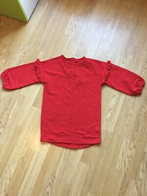 Girls Dunnes Red Top / Jumper Age 8 Years