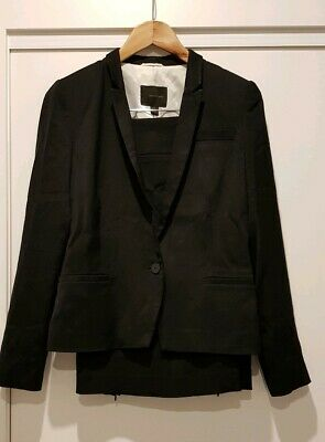 COUNTRY ROAD LUXE BLACK SKIRT SUIT AS NEW SZ 8 BLAZER & SKIRT fits 8 10