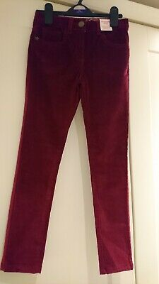 NEW Kids Size 8-9 Years Fine Cord Jeggings Berry Adjustable Waist inside