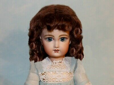 Dee Light Brown mohair wig for antique French/ German bisque doll size 12 -13