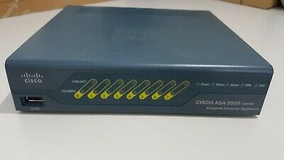 CISCO ASA 5505 Firewall Unlimited Users Security Plus No Adapter