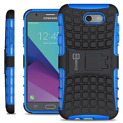 For Samsung Galaxy J7 Prime / J7 Sky Pro / Halo Case - Blue Kickstand Armor