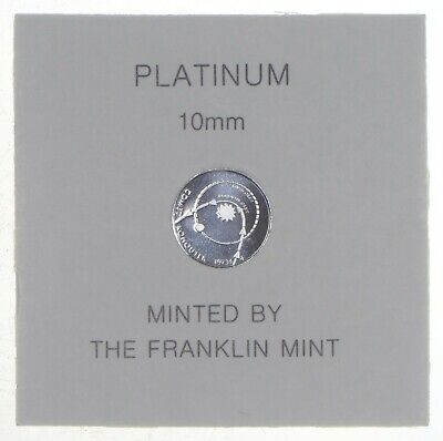 1974 Comet Kohoutek Eyewitness Platinum 10MM Mini Coin - Franklin Mint *7302